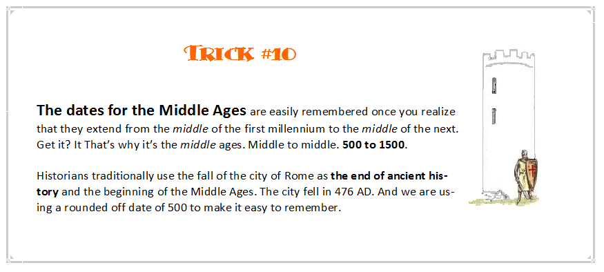 Pack of Tricks--for the study of history